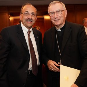 Dr. Frederick F. Fakharzadeh, president of CAPP-USA, with the cardinal