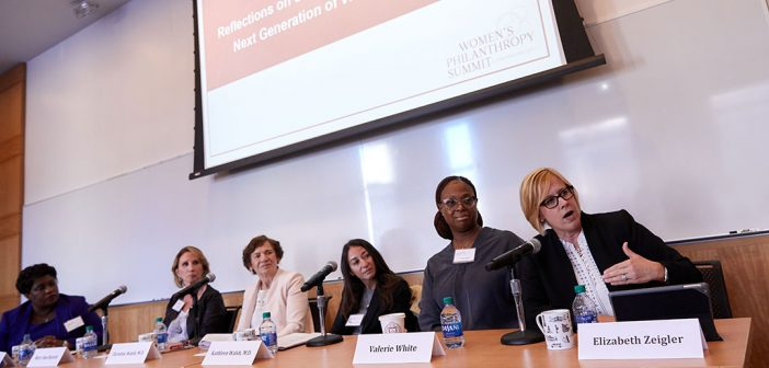 A panel of women