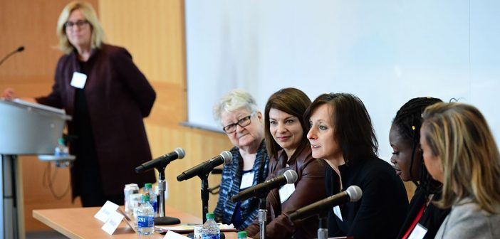 A panel of women