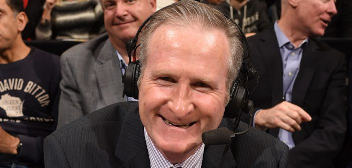 Jack Armstrong, FCLC '86, GSAS '88, is the color commentator for the Toronto Raptors.