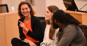 Emily Bazelon speaks at Fordham Law