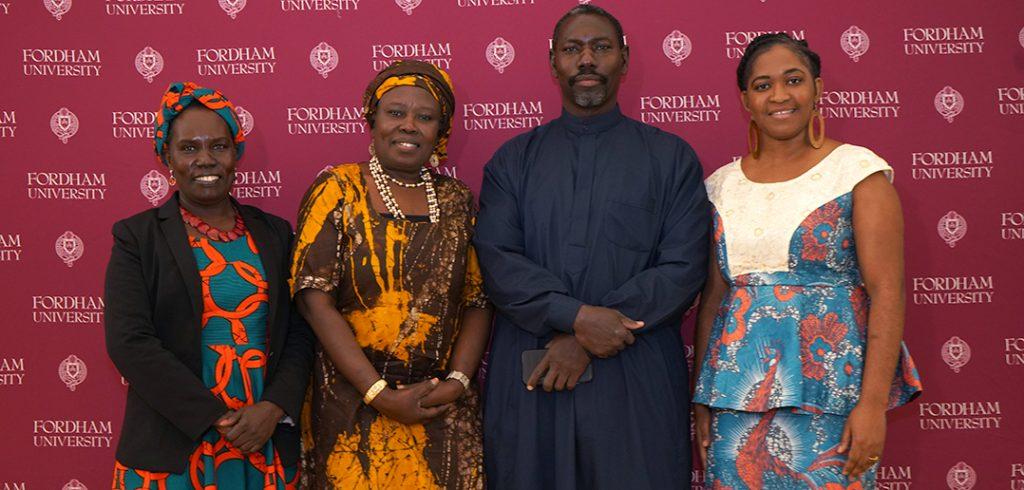 Community Leaders Panel: Jane Edward, Ph.D., Sheikh Musa Drammeh, Imam Ramatu Ahmed, Christelle Onwu