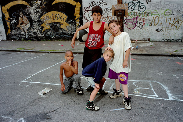 Four Boys, Dodworth Street, Brooklyn, 1995