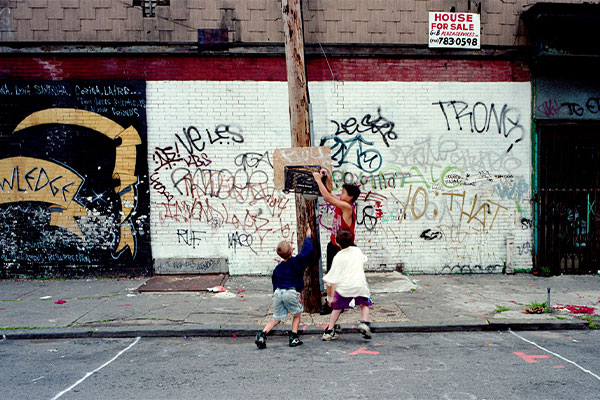 Three Boys, Dodworth Street, Bushwick, Brooklyn, 1995