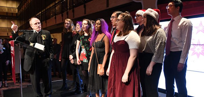 Singers at the President's Club Christmas Reception 2019