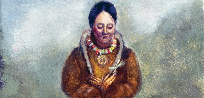 Kateri Tekakwitha (1656-1680), Native American Catholic saint, after a painting, 1681, by Claude Chauchetiere, S.J. The Granger Collection, NYC