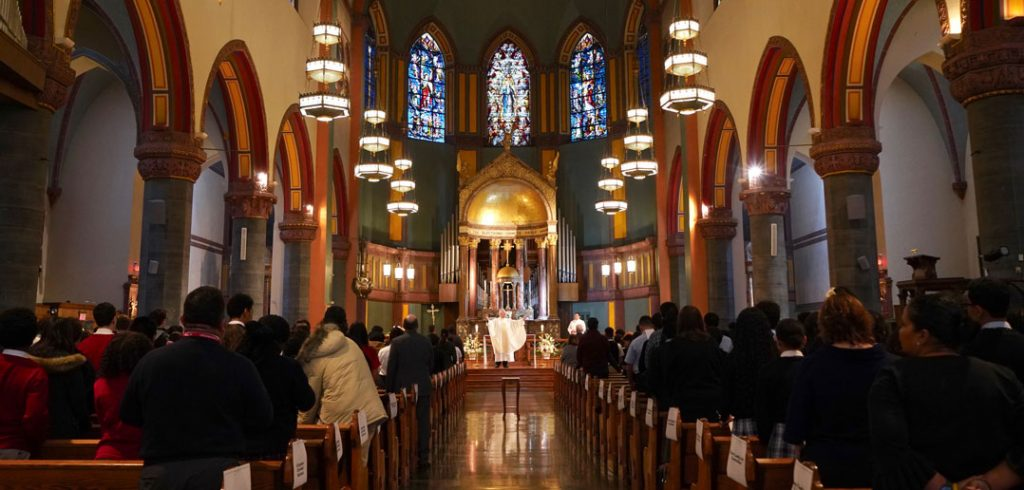 Mass at Church of St. Paul the Apostle