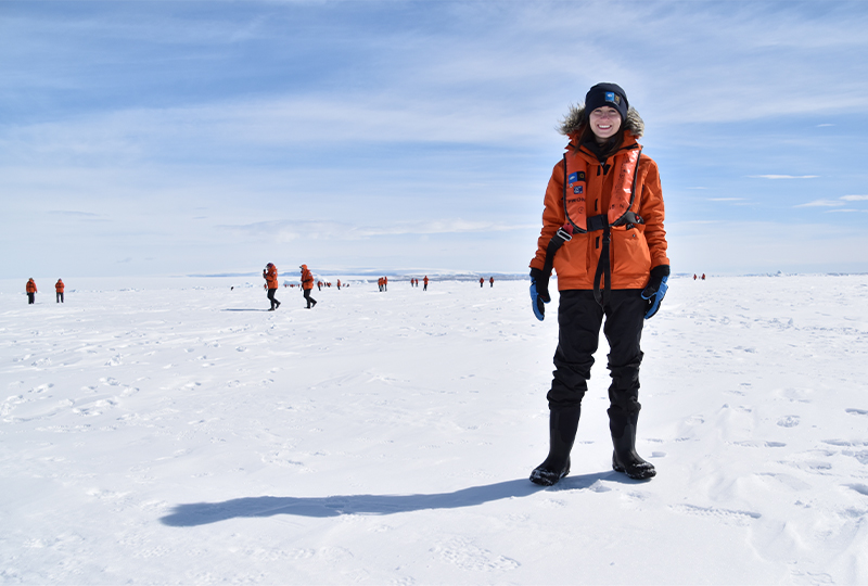 Claire Flynn in Antarctica
