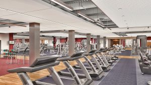 Rendering of the campus fitness center