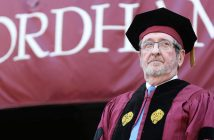 Michael Dowling at Fordham's 2017 commencement