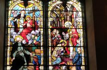 stained-glass windows in University Church