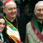 At the St. Patrick's Day Parade with Cardinal Edward Egan
