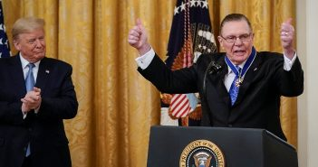 Retired General Jack Keane receives the Medal of Freedom from President Trump at the White House