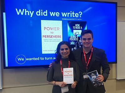 Student authors Alexa Cucchiaro and JJ Meador