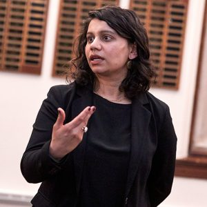NYU's Chandani Patel, Ph.D., spoke on equity and inclusion at the March 3 event.