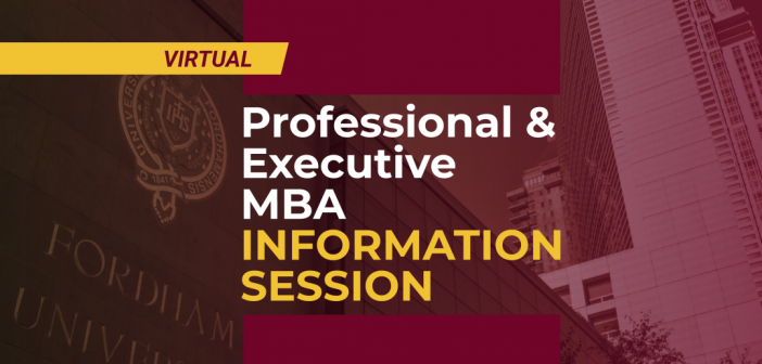Professional & Executive MBA information session