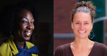 Camesha Grant, GSS '00, '07, and Janet Miller, GSS '97