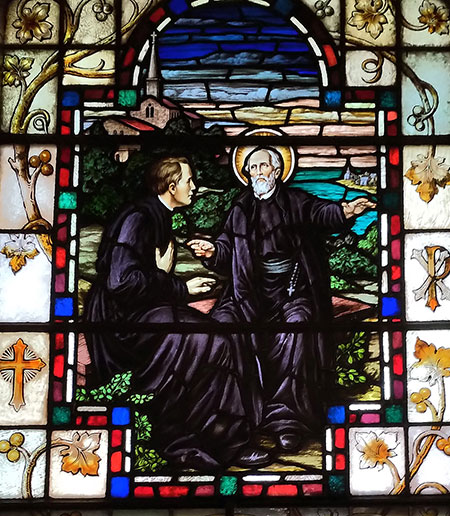 Saint Alphonsus Rodriquez and Saint Peter Claver, Stained Glass