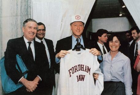John Feerick standing next to Bill Clinton