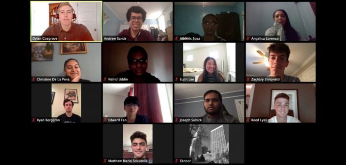 Zoom meeting with students