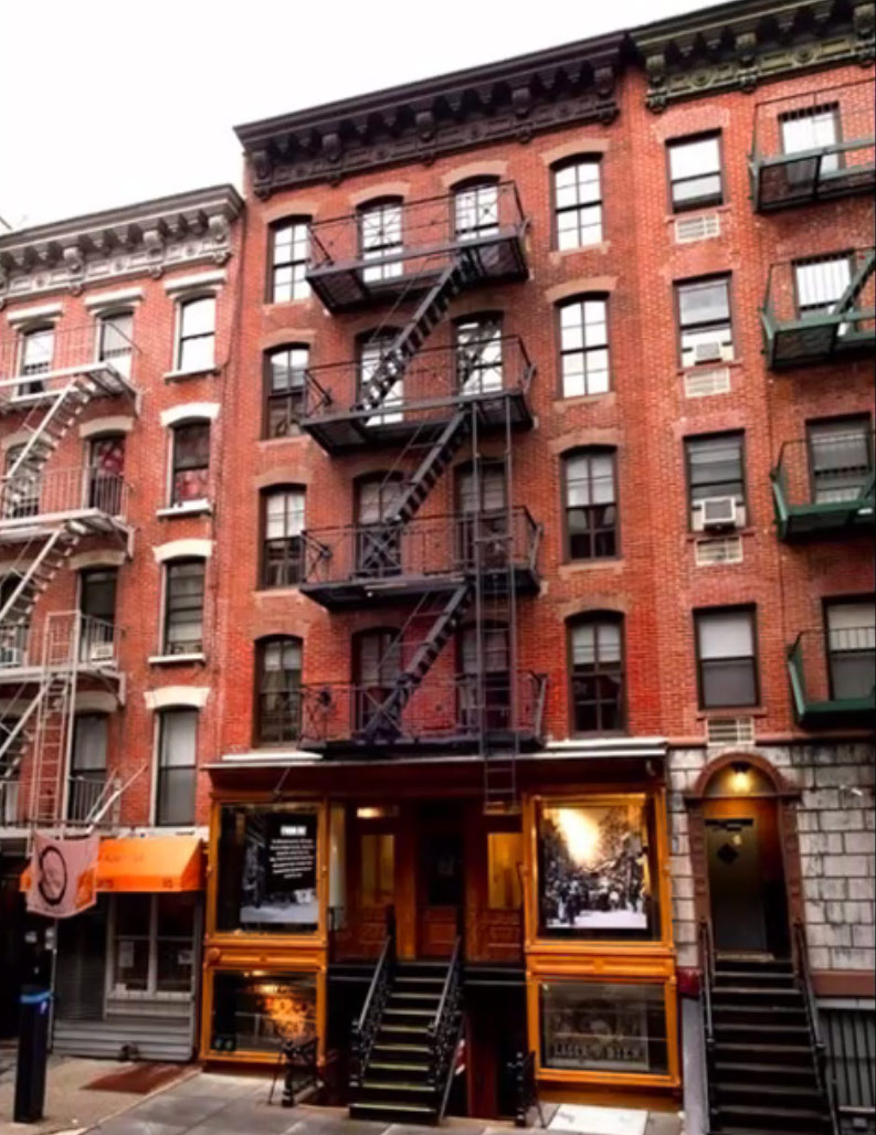 The exterior of the Tenement Museum