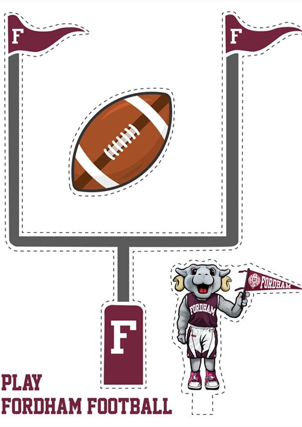 Fordham goalpost cutout