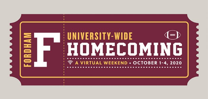 Fordham homecoming ticket graphic