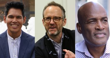 Clint Ramos, John Benjamin Hickey, and Kenny Leon