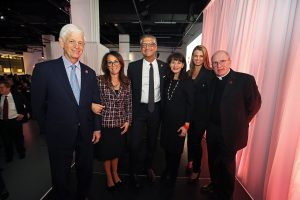 Donna Rapaccioli; Mario Gabelli; Regina Pitaro; Natalie Dowd; Manny Chirico; and Joseph M. McShane, S.J., at the Gabelli School of Business Centennial Celebration