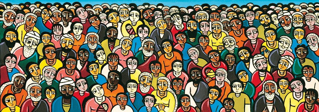 """""""Love One Another"""" (2000), a painting by Laura James"""