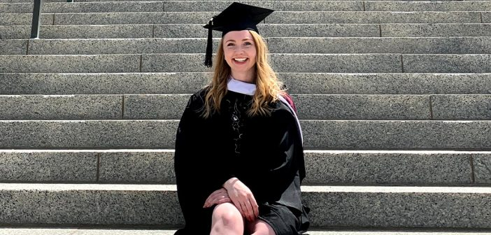 Finley Peay, FCLC '20, in her graduation garb.
