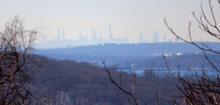 View of Manhattan from Calder Center winter