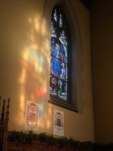 Sunrise inside University Church on Nov. 21, 2020
