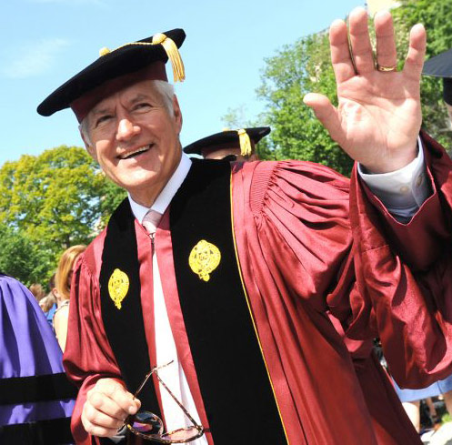 Alex Trebek at Fordham's commencement in May 2011