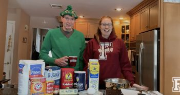 Pat and Aileen Reynolds get ready to bake soda bread