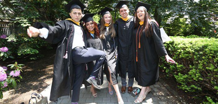 Gabelli School grads kicking up legs