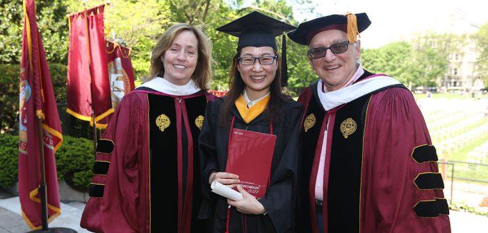 Grad scholar with Toppetas