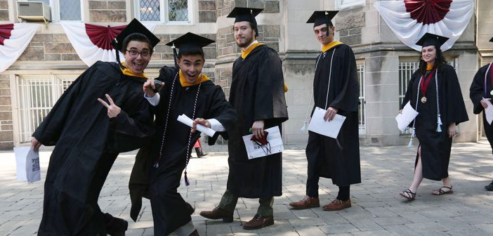 Grads in line