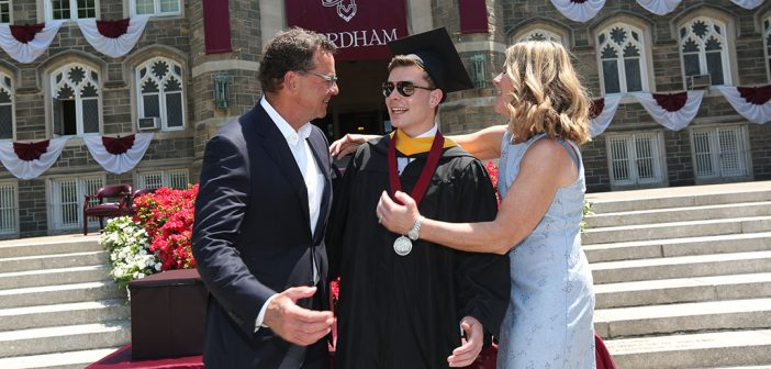 Fitzmaurices hugging their grad son