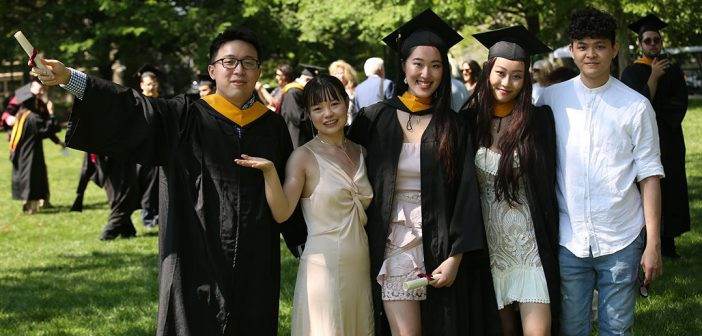 two grads and family
