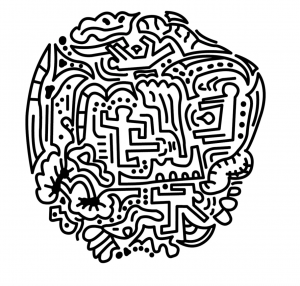 Keith Haring inspired doodles by Roche