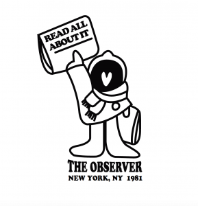 A Roche-designed logo ad for the Observer.