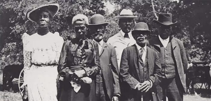 An early celebration of Juneteenth in 1900 at Eastwoods Park in Austin, Texas
