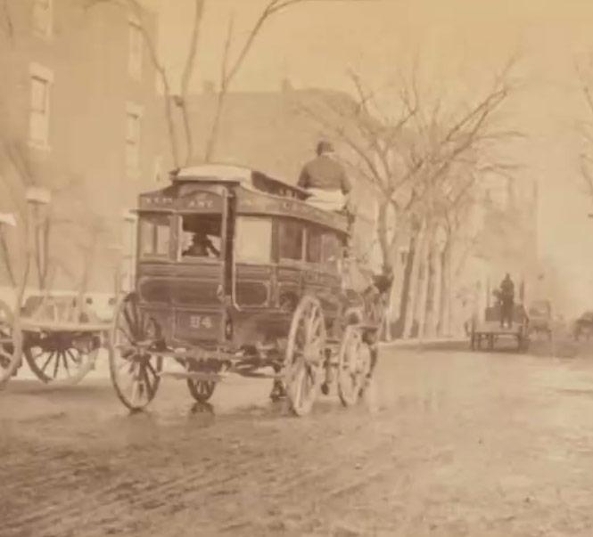 5th Avenue horse-drawn omnibus, 1890