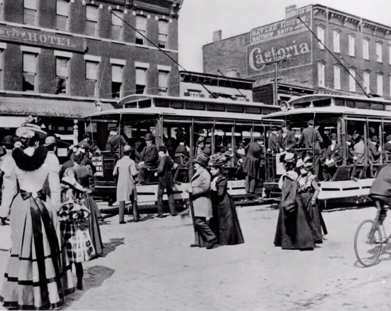 Streetcars in Long Island City, 1897