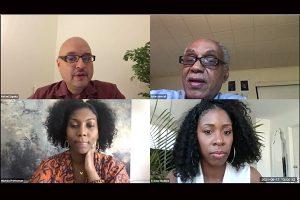 A screenshot of panelists from the Juneteenth conversation.