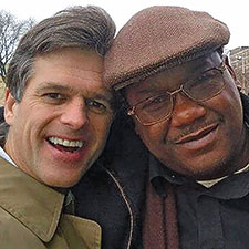 Timothy Shriver with Fordham graduate Lamont Young