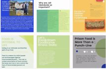 Sample Instagram posts that students presented to CANY.