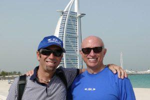 Bob Mignogna, right, with Fernando Aguerre at a 2010 IOC gathering in Dubai.