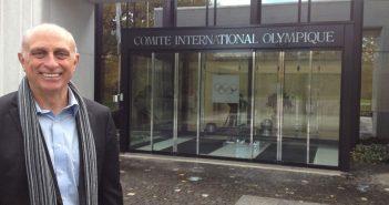 Bob Mignogna, GABELLI '70, at the IOC headquarters in Lausanne, Switzerland.